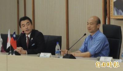 遭韓國瑜怠慢的日本眾議員佐佐木紀 月初曾發文挺台......