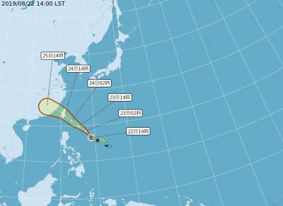 「白鹿」颱風明海陸警齊發 預計週六從花東一帶登陸