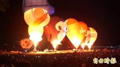 台東大武熱氣球光雕 再因颱風延至31日舉辦