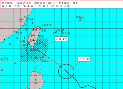 白鹿颱風持續進化 氣象局估接近台灣時強度最強