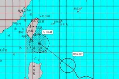 外圍環流入夜侵襲東部 輕颱白鹿14:30發布陸警
