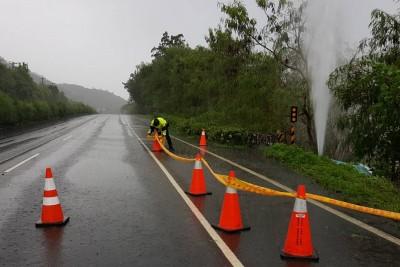 「白鹿」炸裂恆春半島自來水管線 緊急修復中