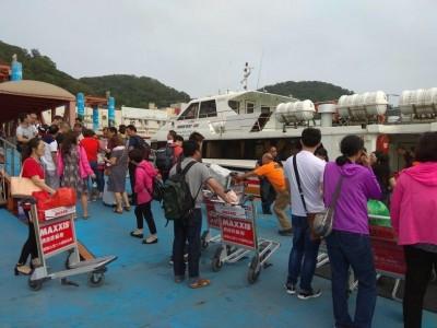 受白鹿颱風影響 今日海運18航線共220航次停航