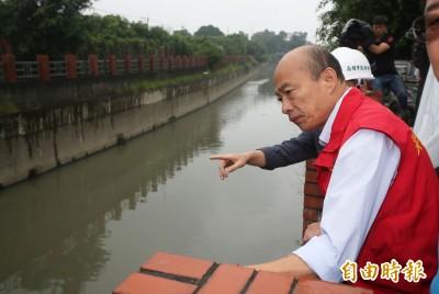 老毛病又犯?韓國瑜視察拆橋 遲到15分卻只查看5分鐘