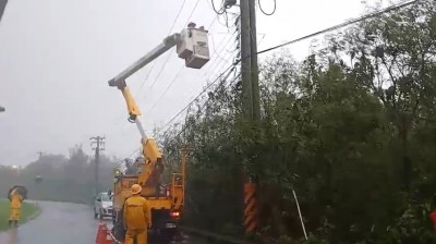 白鹿颱風釀全台逾11萬戶停電 台電招考將照常舉行