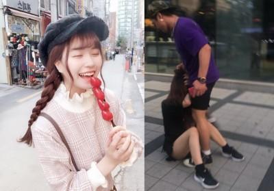 拒「歐爸」搭訕...日本網紅正妹當街遭韓男暴打狠踹