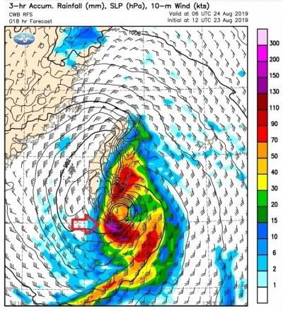 白鹿颱風新預報圖出爐 鄭明典:這地區預測雨量變高了