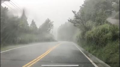 宜蘭不在颱風警戒區 太平山風強雨驟