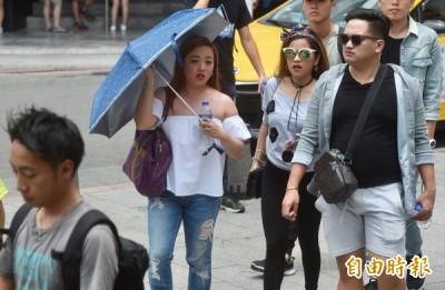 颱風遠離 中部以北高溫上看34度 午後留意短時強降雨