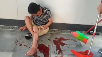 基隆火車站爆遊民衝突 70多歲老遊民酒瓶刺傷另1遊民左腿濺血