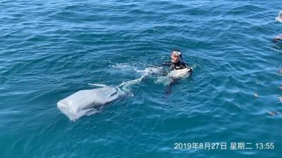 澎湖落海老翁找到了 海巡分隊長下水帶回大體