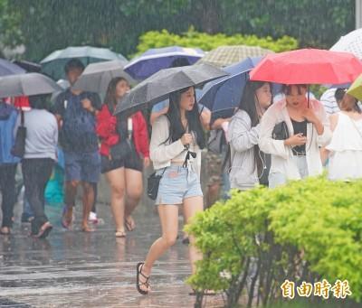 3縣市豪大雨特報!各地防午後雷陣雨
