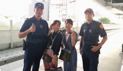 戀愛了!日本正妹遊台迷途遇男警協助 直呼:你好帥!