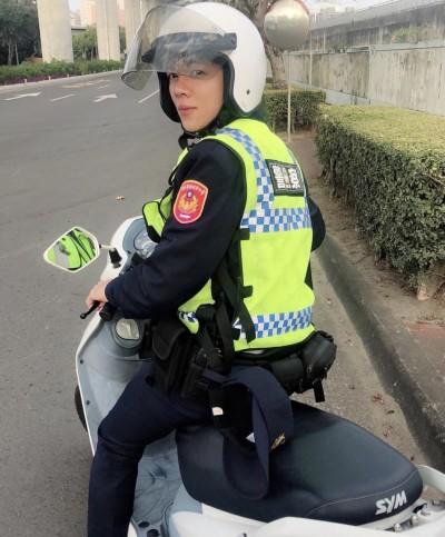 空服員轉換跑道任警察 市場阿嬤直呼「緣投又年輕」