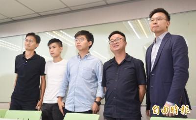 黃之鋒拜會民進黨:面對中共壓迫 台灣香港是命運共同體