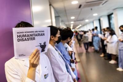 反送中》醫護院內遊行 護士:學生犧牲前途 我不可只顧自己