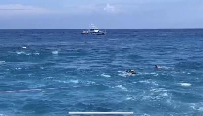綠島5潛水客體力不支 海巡與民眾海上「拔河」救援