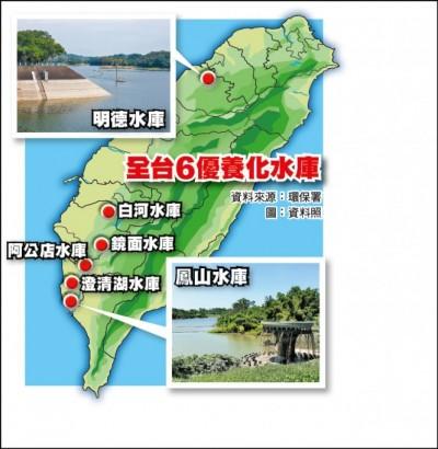 本島6大水庫優養化 水利署:供水水庫處理後符合飲用水標準
