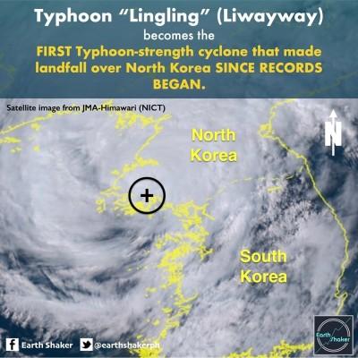 玲玲創紀錄!日本氣象廳:北韓史上第一個颱風