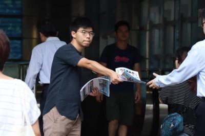 因行政程序出包遭逮捕 黃之鋒聲明:警決意扣留極不合理