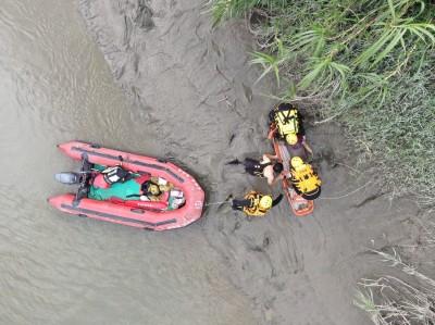 北港溪發生落水意外 空拍機救命