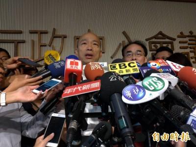 蘇貞昌今宣布高鐵南延屏東 韓國瑜:貿然宣布、是否得宜?