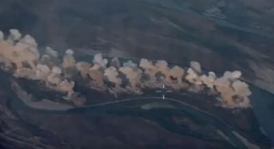 報復?美軍炸IS據點影片曝光!36公噸炸彈地毯式狂轟