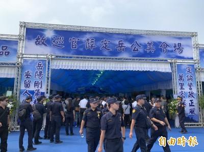 勇警薛定岳公祭 徐國勇:會檢討警察安全帽安全等問題