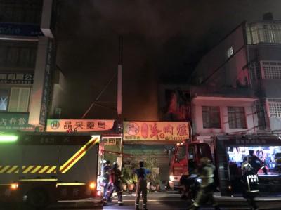 台東市羊肉爐店清晨竄火 延燒隔壁藥局