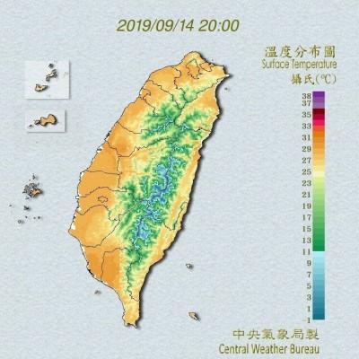 收假日再飆35度 北部、東部天氣不穩定