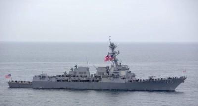 美驅逐艦駛入南海敏感海域 挑戰中國領土主張