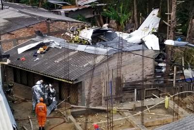哥倫比亞飛機驚傳墜毀 7死2生還
