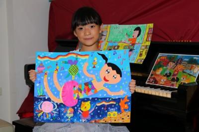 雷射治療痛楚肚裡吞 「太田母斑」女孩繪畫中找自信