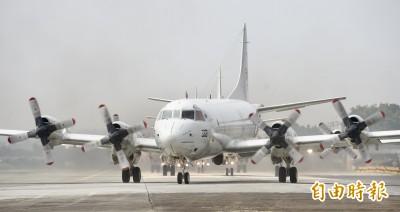 空軍P-3C反潛機起飛傳「焦味」 緊急返場人機均安