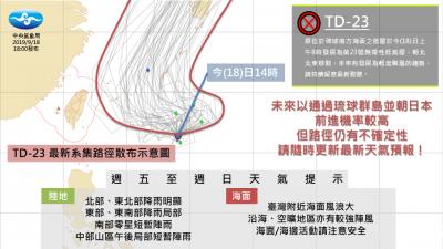 颱風「塔巴」可能生成!一張圖秒懂可能路徑、降雨熱區