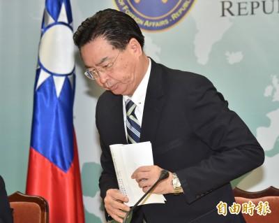 吳釗燮願請辭負責 蔡英文「慰留」:中國蠻橫非我國責任