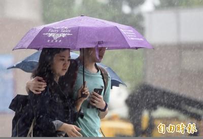 輕颱塔巴今白天最接近台灣 6縣市發布豪雨特報!