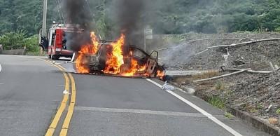 台7甲火燒車4人受傷  懷胎5月小媽媽下週結婚幸運輕傷