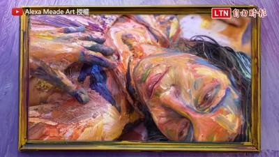 難道人物從油畫跑出來了? 她的作品讓人看了眼睛錯亂