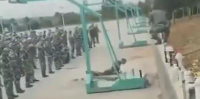 下半身撞地球!解放軍訓練疑遭偷拍 影片流出被笑翻