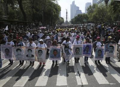 墨國「43名學生失蹤案」5週年 民眾上街抗議要政府查出真相