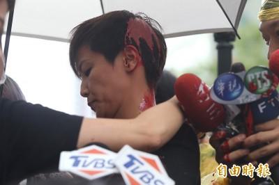 何韻詩遭潑漆 國民黨譴責施暴者是民主公敵