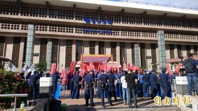 統促黨北車前慶中國國慶 北市府發言人:市長要求依法行政