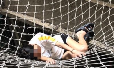 命大!北市女子從16樓跳樓 防護網救她一命
