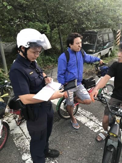 騎電動自行車記得「戴安全帽」! 瑞芳警2天開10罰單