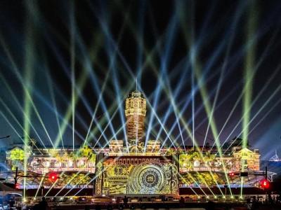 總統府國慶光雕秀今晚點燈 璀璨試燈畫面曝光