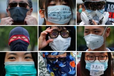 香港禁止蒙面 台灣民團:反撲會越來越大