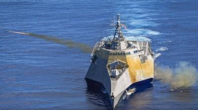 震撼!美星兩國聯合擊沉演習 各式飛彈狂轟派里級軍艦