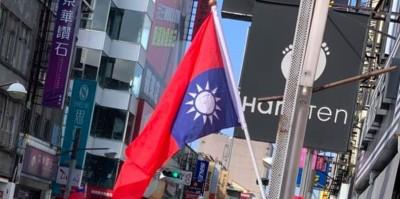 這種旗海飄揚?藍營執政地區被爆國旗倒掛引公憤