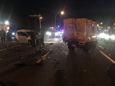 又傳連環車禍!國道3號7台車連環撞  6人輕傷